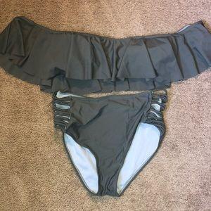 Yandy Gray Bathing Suit